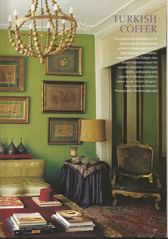 THE WORLD OF INTERIORS COVER